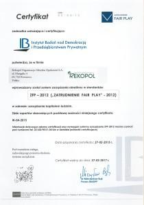 certyfikat ZFP